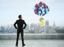 Het concept van de winst De tekens van de calculator en van de dollar Royalty-vrije Stock Afbeelding