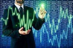 Het concept van de winst De tekens van de calculator en van de dollar Stock Foto
