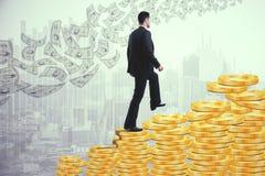 Het concept van de winst De tekens van de calculator en van de dollar Royalty-vrije Stock Foto's