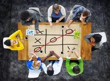 Het Concept van de Winstchallecge van tictac toe game competition XO Royalty-vrije Stock Foto