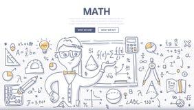 Het Concept van de wiskundekrabbel royalty-vrije illustratie