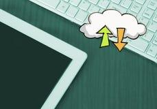 Het concept van de wolkenopslag Stock Fotografie