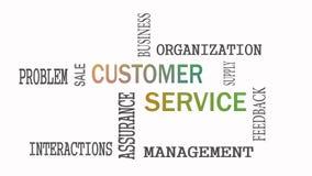 Het concept van de het woordwolk van de klantendienst op witte achtergrond royalty-vrije illustratie