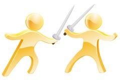Het concept van de zwaardstrijd Stock Afbeelding