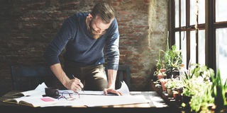 Het Concept van Design Working Planning van de architecteningenieur stock afbeeldingen