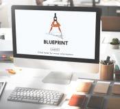Het Concept van Dimensions Project Drafting van de blauwdrukarchitect stock afbeeldingen