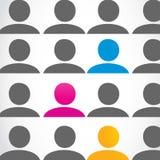 Het concept van diversiteitsmensen royalty-vrije illustratie
