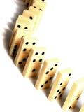 Het concept van domino's Stock Foto's
