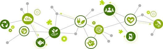 """Het concept van het duurzaamheidspictogram: duurzame energie, ecologie, milieubescherming †""""vectorillustratie vector illustratie"""