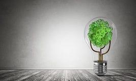 Het concept van Ecoinnovaties door middel van lightbulb Royalty-vrije Stock Fotografie