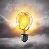 Het concept van Ecoinnovaties door middel van lightbulb Royalty-vrije Stock Foto