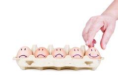Het concept van eieren stock foto