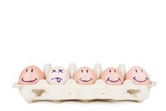Het concept van eieren stock afbeeldingen