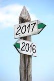 het concept van 2016 en van 2017 Stock Foto's