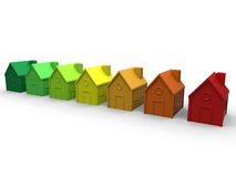 Het concept van energierendementhuizen Stock Afbeelding
