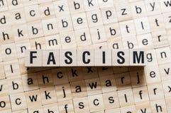 Het concept van het fascismewoord royalty-vrije stock foto's