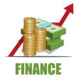 Het concept van financiën royalty-vrije illustratie
