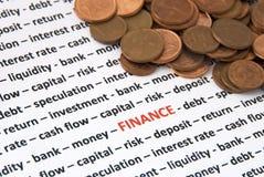 Het concept van financiën stock foto