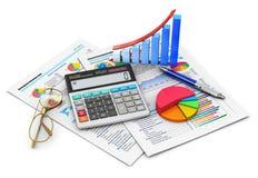 Het concept van financiën en van de boekhouding Stock Afbeeldingen