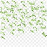 Het concept van financiën Regen van dollars stock illustratie