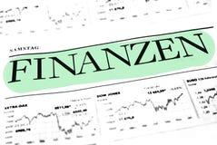 Het Concept van financiëngegevens Stock Foto