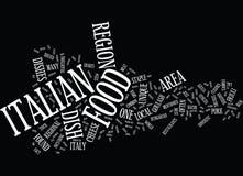 Het Concept van Friulivenezia Giulia Italian Food Word Cloud Stock Illustratie