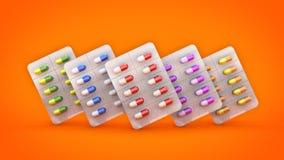 Het concept van geneeskundepillen Royalty-vrije Stock Foto's