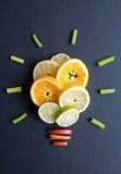 Het concept van gezonde voedingideeën Stock Fotografie