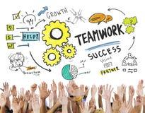 Het Concept van groepswerkteam together collaboration hands volunteer stock illustratie