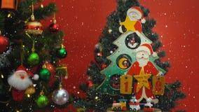 Het concept van het groetseizoen Santa Claus toont 10 dagen tot Kerstmis met Stock Fotografie