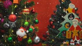 Het concept van het groetseizoen Santa Claus toont 10 dagen tot Kerstmis met Stock Foto's