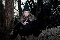 Het concept van Halloween De heks binnen Royalty-vrije Stock Fotografie