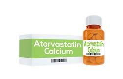 Het concept van het Atorvastatincalcium vector illustratie