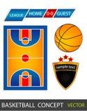 Het concept van het basketbal Stock Fotografie