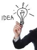 Het concept van het bedrijfsmensensucces Stock Afbeeldingen