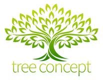 Het concept van het boompictogram Stock Foto's