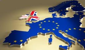 Het concept van het Brexitreferendum Stock Fotografie