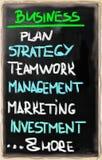 Het concept van het businessplan Stock Fotografie