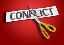 Het concept van het conflict Stock Foto