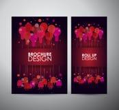 Het concept van het de kunstontwerp van het gloeilampenidee Brochure bedrijfsontwerpmalplaatje of broodje omhoog Royalty-vrije Stock Fotografie
