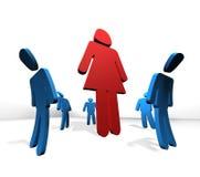 Het concept van het de machtsfeminisme van de vrouw Stock Foto
