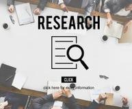 Het Concept van het de Ontdekkingsonderzoek van de onderzoekanalyse Stock Foto's