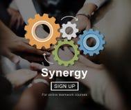 Het Concept van het de Samenwerkingsgroepswerk van de synergismesamenwerking stock foto