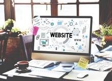Het Concept van het de Technologienetwerk van websiteconnetion Internet stock afbeelding
