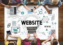 Het Concept van het de Technologienetwerk van websiteconnetion Internet royalty-vrije stock foto's