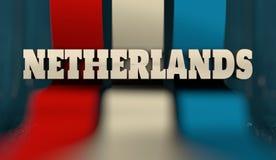 Het concept van het de vlagontwerp van Nederland Stock Fotografie