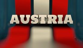 Het concept van het de vlagontwerp van Oostenrijk Stock Afbeelding