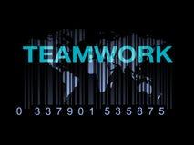 Het Concept van het de Wereldgroepswerk van het streepjescodeonderwijs Royalty-vrije Stock Foto's
