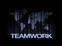 Het Concept van het de Wereldgroepswerk van het streepjescodeonderwijs Stock Afbeelding