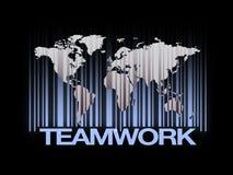 Het Concept van het de Wereldgroepswerk van het streepjescodeonderwijs Stock Foto's
